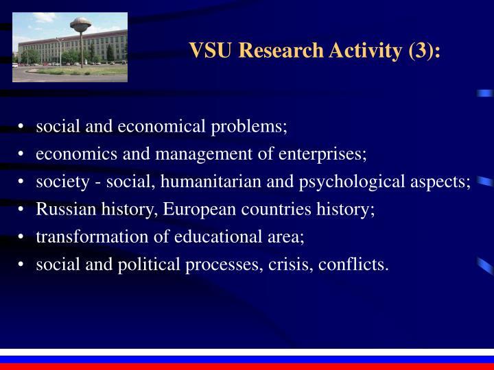 VSU Research Activity (3):