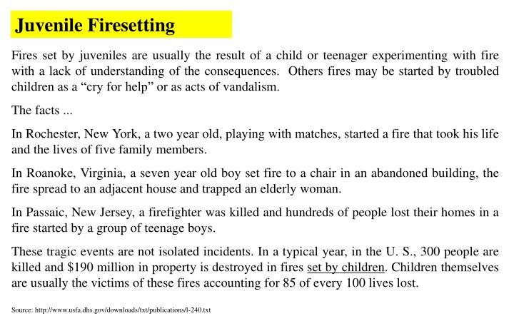 Juvenile Firesetting