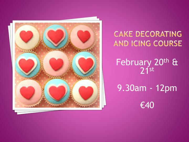 Cake Decorating and Icing Course