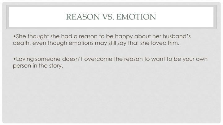 emotion vs reason essay
