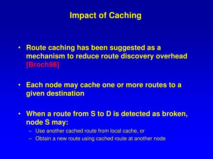 Impact of Caching