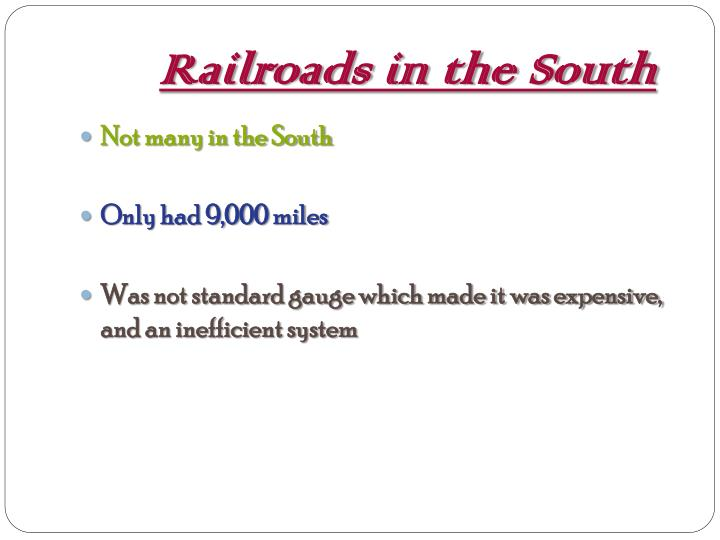 Railroads in the South