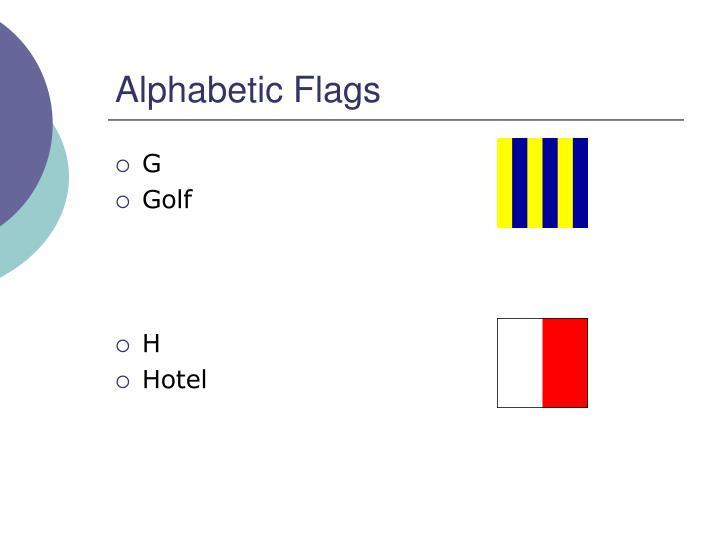 Alphabetic Flags