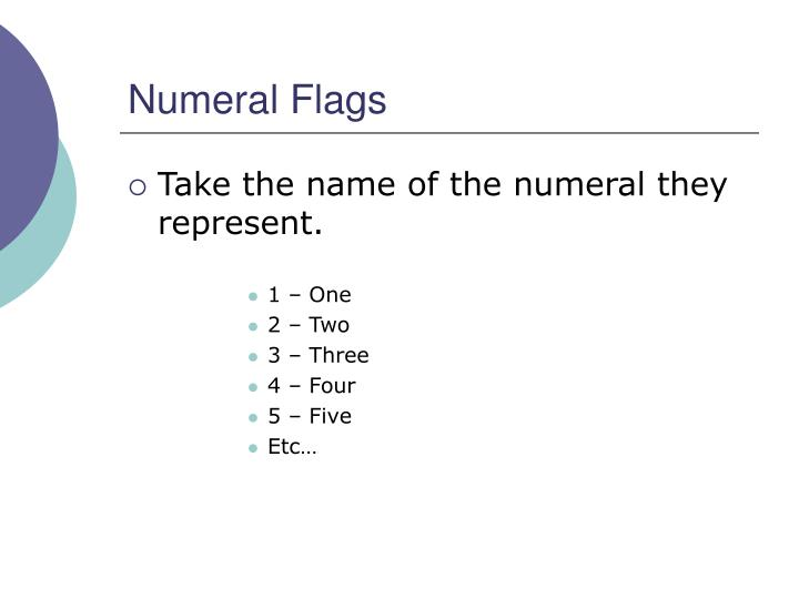 Numeral Flags