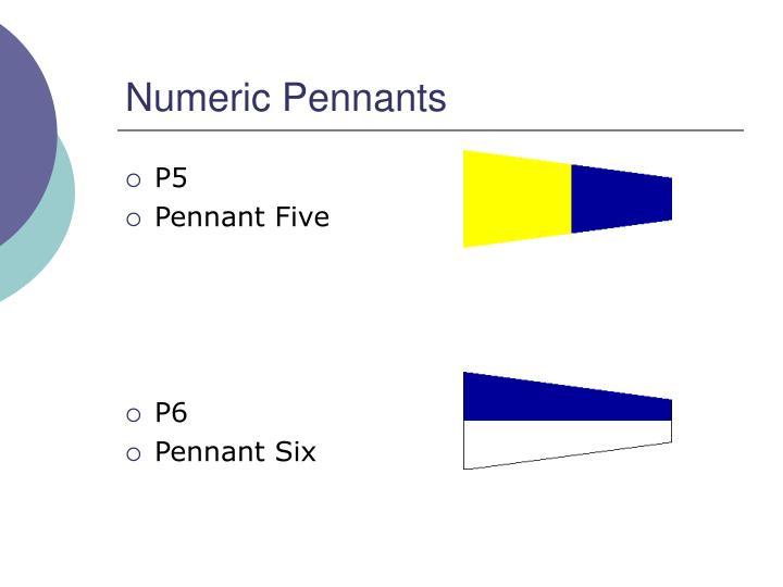 Numeric Pennants