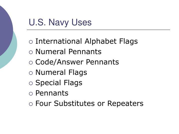 U.S. Navy Uses
