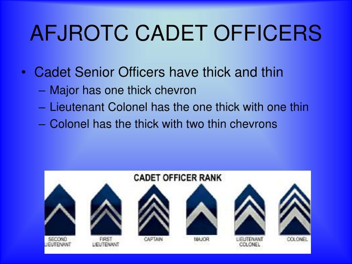 AFJROTC CADET OFFICERS