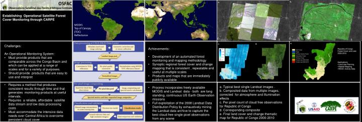 Establishing  Operational Satellite Forest Cover Monitoring through CARPE