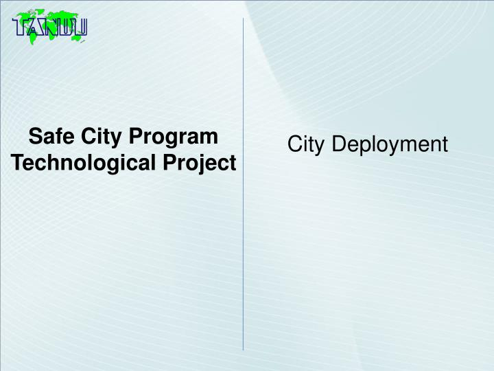 Safe City Program
