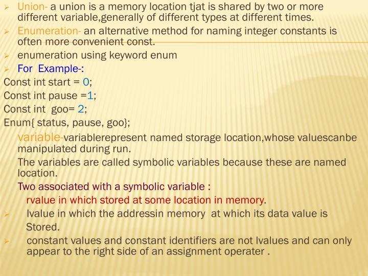 Union-