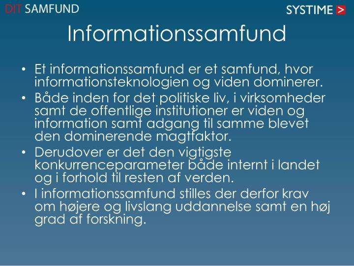 Informationssamfund