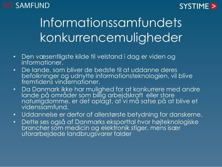 Informationssamfundets konkurrencemuligheder