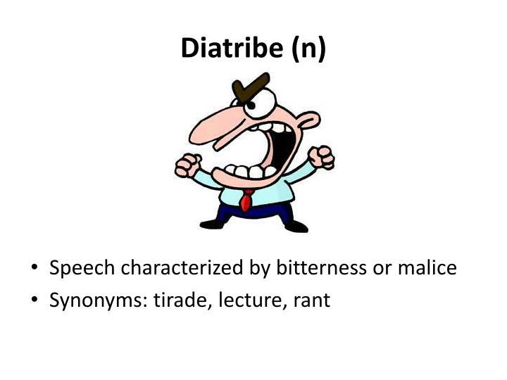 Diatribe (n)