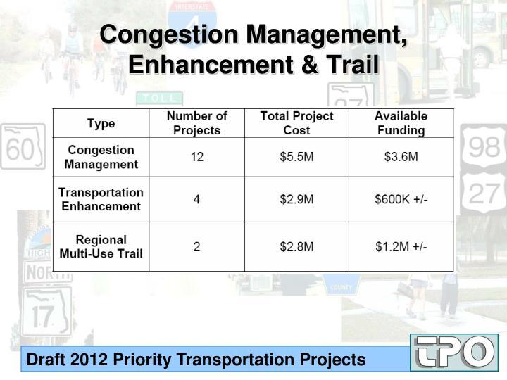 Congestion Management, Enhancement & Trail
