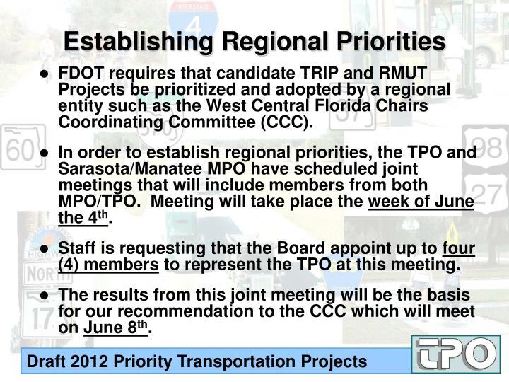 Establishing Regional Priorities