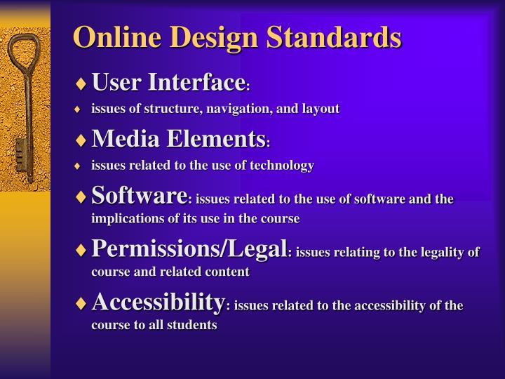 Online Design Standards