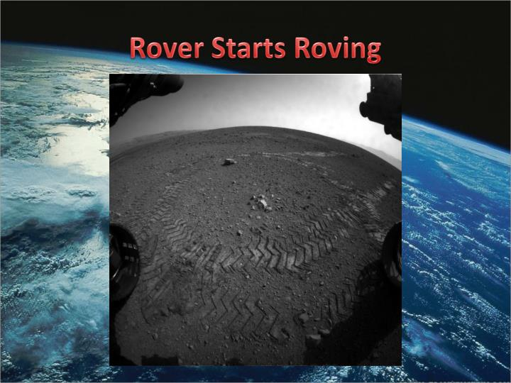 Rover Starts Roving