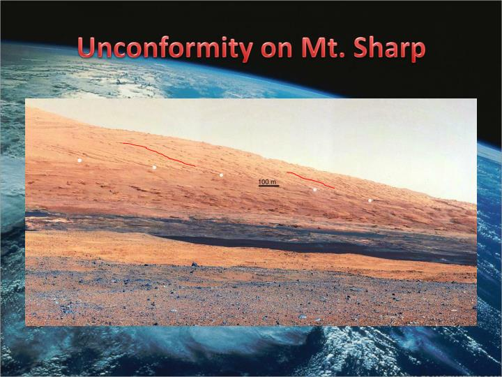 Unconformity on Mt. Sharp