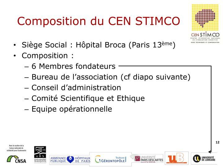 Composition du CEN STIMCO