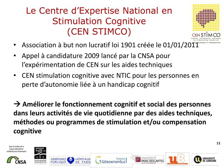 Le Centre d'Expertise National en Stimulation Cognitive