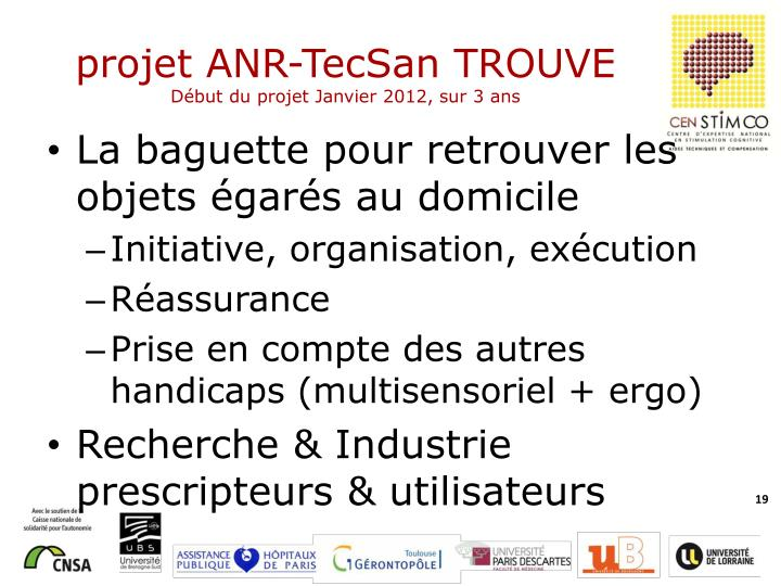 projet ANR-TecSan TROUVE