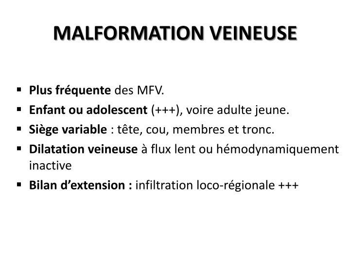 MALFORMATION VEINEUSE