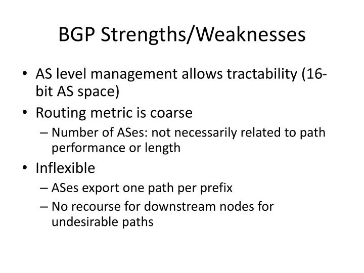 BGP Strengths/Weaknesses
