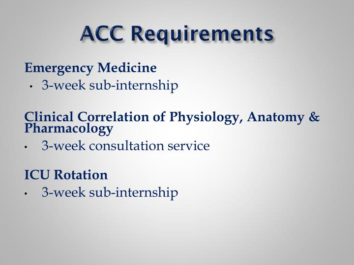 ACC Requirements