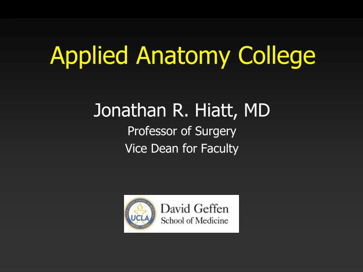 Applied Anatomy College