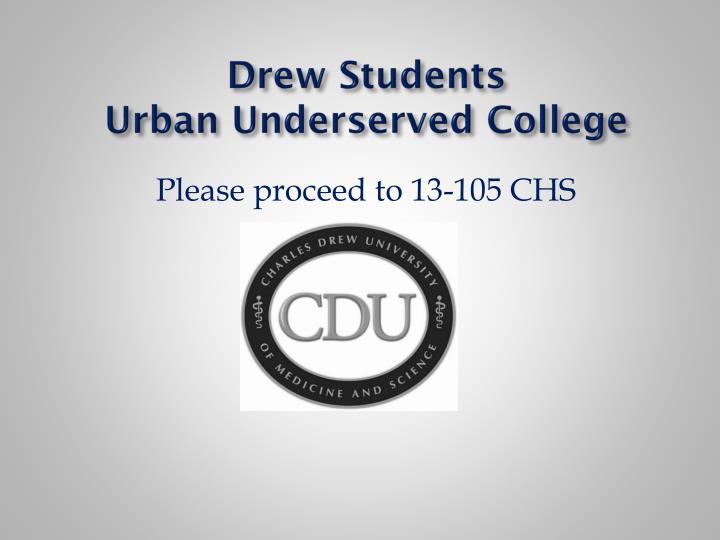 Drew Students