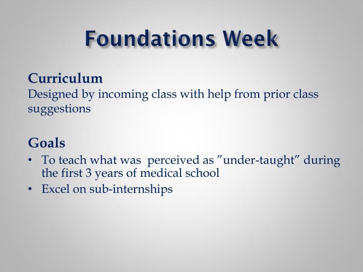 Foundations Week