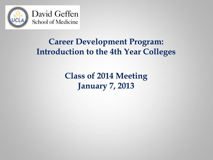 Career Development Program: