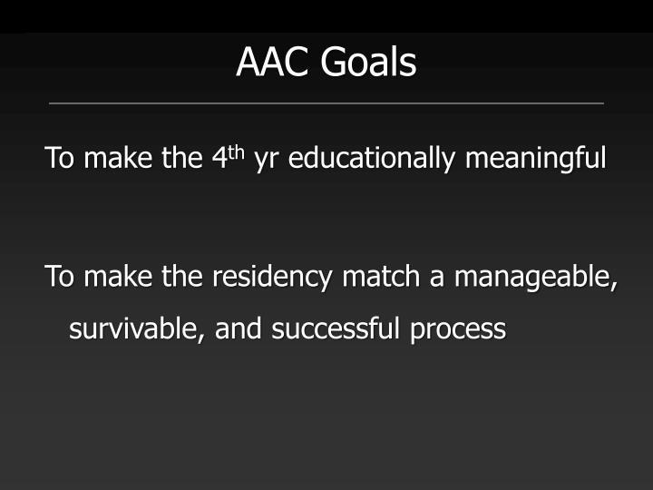 AAC Goals
