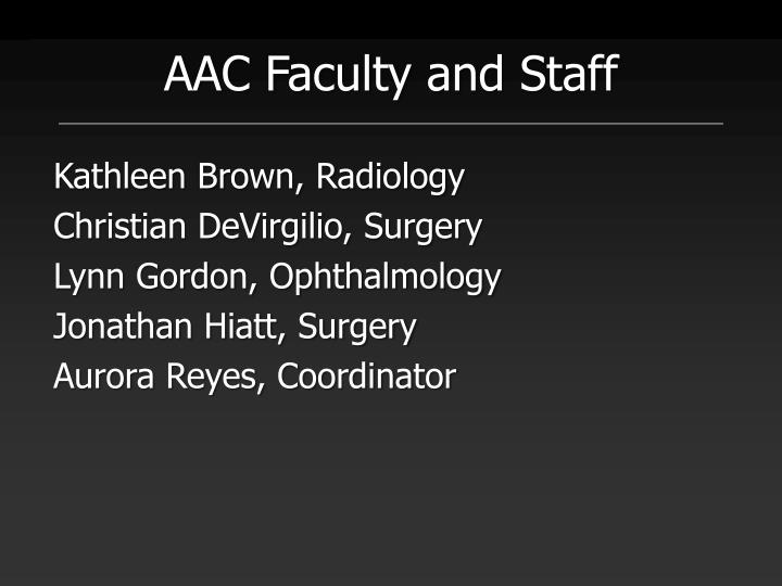 AAC Faculty and Staff
