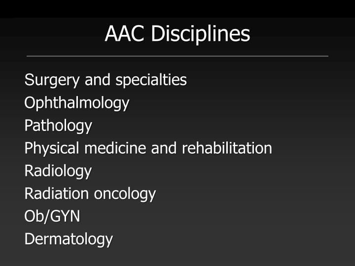 AAC Disciplines