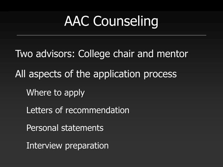 AAC Counseling