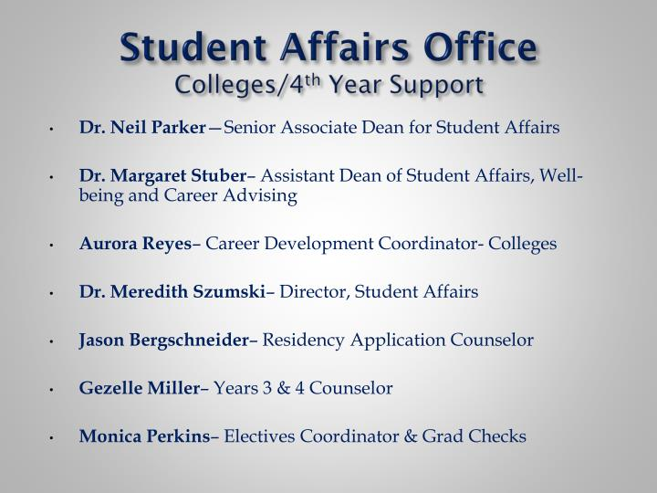 Student Affairs Office