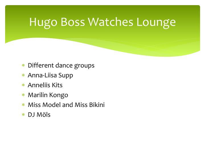 Hugo Boss Watches Lounge