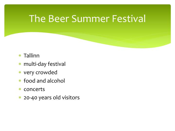The beer summer festival1
