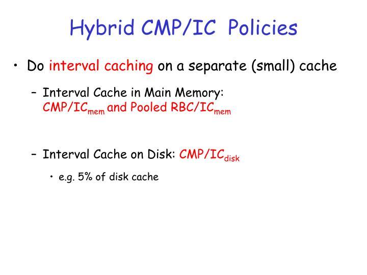 Hybrid CMP/IC  Policies