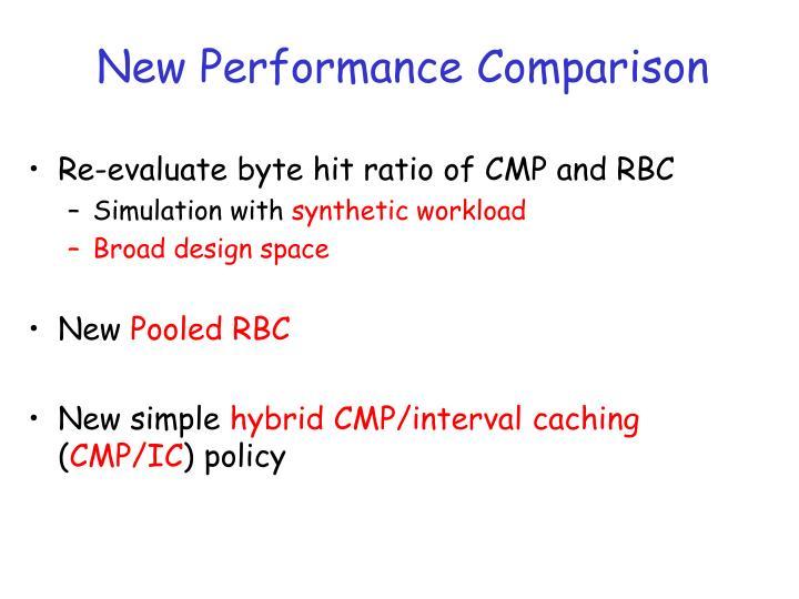 New Performance Comparison