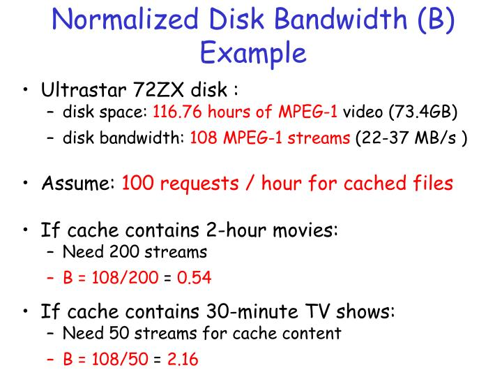 Normalized Disk Bandwidth (B)
