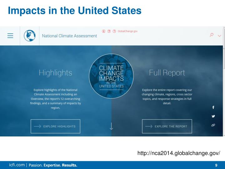 Impacts in the United States