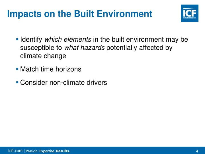 Impacts on the Built Environment