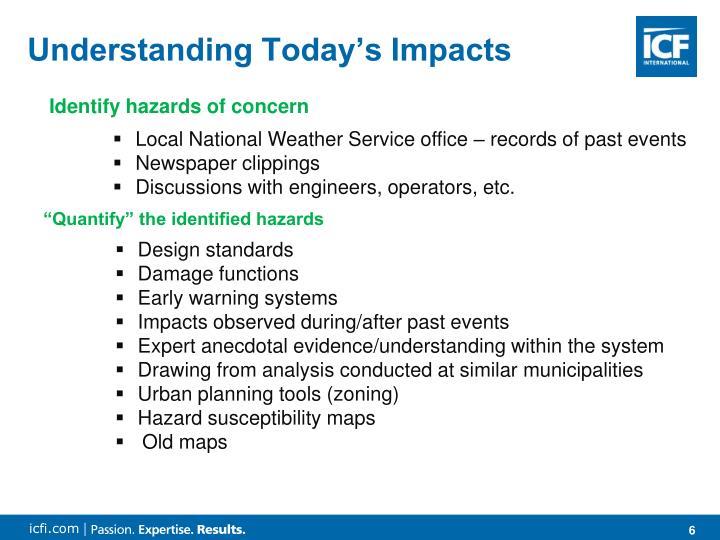 Understanding Today's Impacts
