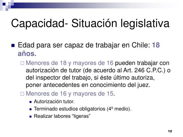 Capacidad- Situación legislativa