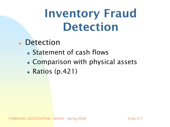 Inventory Fraud Detection
