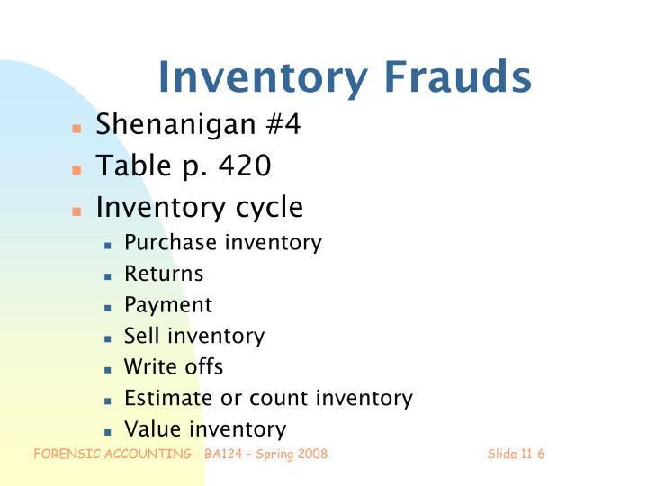 Inventory Frauds