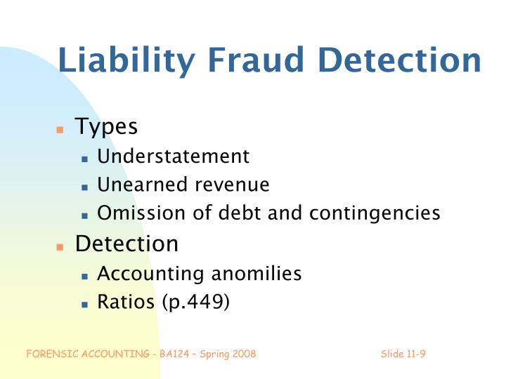 Liability Fraud Detection