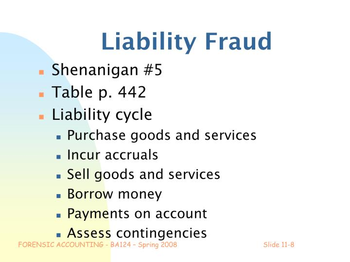 Liability Fraud